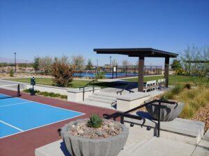 Outdoor amenities at a senior living Community in Las Vegas.