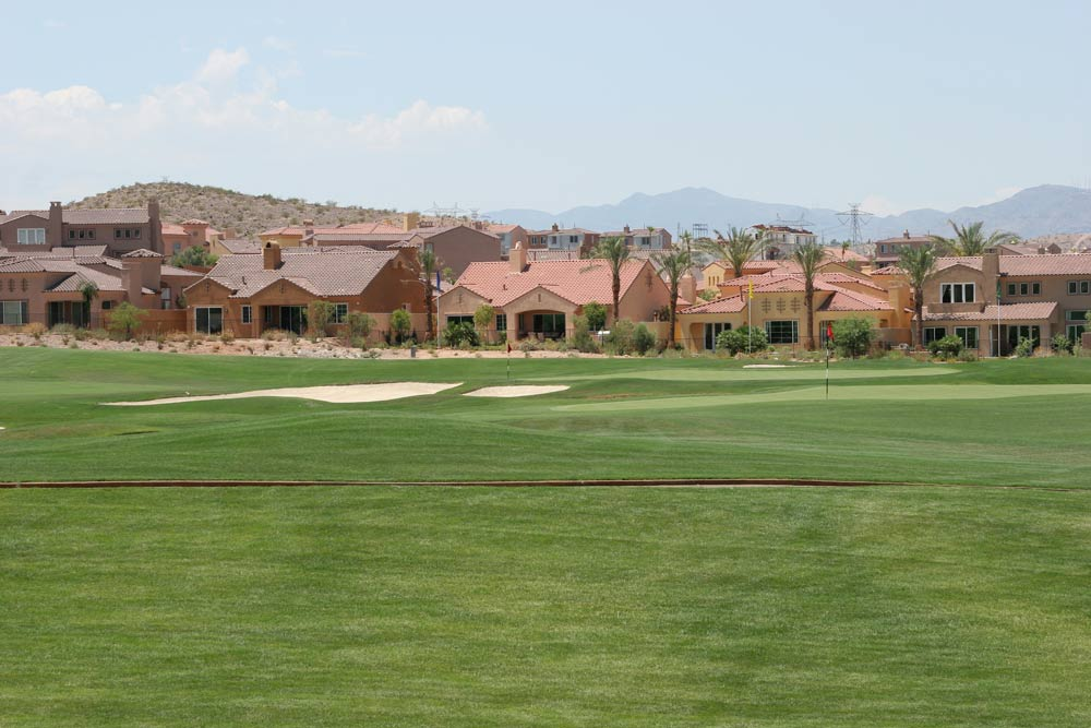 Las Vegas golf course with homes in the background